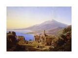 Teatro Greco, Taormina, with Etna beyond Giclee-trykk av Karl Robert Kummer