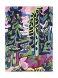 Wild Mountain (Mountain Forest; Summer Forest) Giclée-tryk af Ernst Ludwig Kirchner