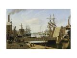A View of Copenhagen with the Knippelsbro Giclée-tryk af Jans Erik Carl Rasmussen