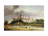 A View of Windsor Castle from the Brocas Meadows Giclée-tryk af Alfred Vickers