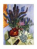 Still Life with a Vase of Flowers Giclée-tryk af Ernst Ludwig Kirchner