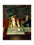 The Absinthe Drinkers Reproduction procédé giclée par Jean Béraud