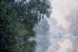Morning on the Seine, Effect of Mist Giclee-trykk av Claude Monet