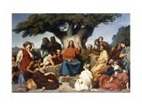 Surmon de Jesus-Christ sur la Montagne' (Matthew, V) Giclée-tryk af Edouard Dubufe