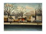 Suburbs; Banlieue Giclee-trykk av Henri Rousseau