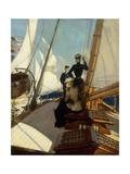 An Afternoon at Sea Giclée-tryk af Albert Lynch