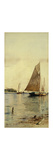 Drying the Sails, Oyster Boats, Patchogue, Long Island Premium Giclée-tryk af Alfred Thompson Bricher