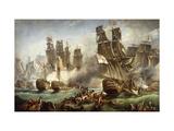 La batalla de Trafalgar Lámina giclée