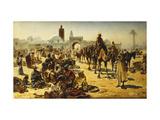 An Arab Slave Market Giclée-tryk af Ferencz-Franz Eisenhut