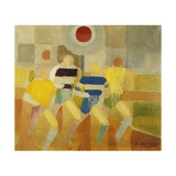 The Runners on Foot Stampa giclée di Robert Delaunay