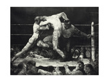 A Stag at Sharkey's Giclee-trykk av George Wesley Bellows