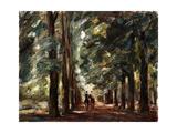 Avenue in Sakrow with Two Riders Reproduction procédé giclée par Max Liebermann