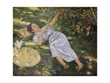 Under the Trees Giclée-tryk af Kuroda Seiki