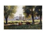 Prairie a Arques-la Bataille, Normandie Reproduction procédé giclée par Julien Dupre