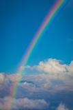 Rainbow over Clouds in Costa Rica Plastic Sign Cartel de plástico