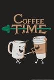 Coffee Time Snorg Tees Plastic Sign Muovikyltit tekijänä  Snorg