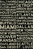 National Football League Cities Vintage Style Plastic Sign Plastskilt