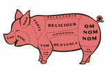 Tasty Pig Snorg Tees Plastic Sign Muovikyltit tekijänä  Snorg