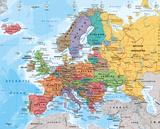 Carte de l'Europe Affiche