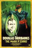The Mark of Zorro Movie Douglas Fairbanks Plastic Sign Plastic Sign