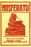Nosferatu Movie Max Schreck 1922 Plastic Sign Placa de plástico