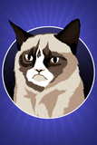Grumpy Cat Cartoon Plastic Sign Cartel de plástico