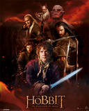 The Hobbit DOS - Fire Montage Posters