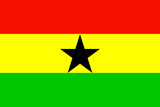 Ghana National Flag Plastic Sign Plastic Sign