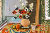 Henri Matisse Les Anemones Flowers Plastic Sign Plastikschild von Henri Matisse