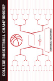 March Madness Bracket (NCAA Basketball) Sports Plastic Sign Plastikskilt