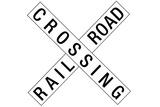 Railroad Crossing Crossbuck Traffic Plastic Sign Plastic Sign