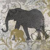 Elephants Exotiques Poster par Katrina Craven
