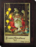 Vintage St. Nick Stretched Canvas Print