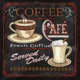 Coffee Café Póster por Conrad Knutsen