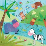 Jungle Friends I Posters af Kate and Elizabeth Pope