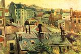 Vincent Van Gogh Overlooking the Rooftops of Paris Plastic Sign Plastic Sign by Vincent van Gogh