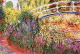 Claude Monet Le Bassin aux Nympheas Plastic Sign Plastikschild von Claude Monet