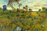 Vincent Van Gogh Tardis Montmajour Plastic Sign Muovikyltit