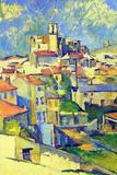 Paul Cezanne Gardanne Plastic Sign Placa de plástico por Paul Cézanne