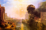 Joseph Mallord Turner Rise and Fall of Carthage Plastic Sign Placa de plástico por J. M. W. Turner