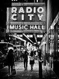 Urban Scene, Radio City Music Hall by Night, Manhattan, Times Square, New York, Classic Photographic Print by Philippe Hugonnard