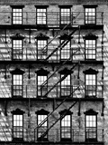 Building Facade in Red Brick, Stairway on Philadelphia Building, Pennsylvania, US Photographic Print by Philippe Hugonnard