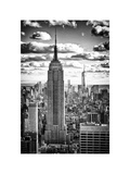 Cityscape, Empire State Building and One World Trade Center, Manhattan, NYC, White Frame Fotografisk tryk af Philippe Hugonnard