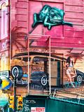 Street Art, Graffiti on the Walls of a Building, Philadelphia, Pennsylvania, United States Lámina fotográfica por Philippe Hugonnard