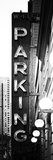 Vertical Panoramic, Garage Parking Sign, W 43St, Times Square, Manhattan, New York Photographic Print by Philippe Hugonnard