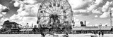 Panoramic View, Vintage Beach, Wonder Wheel, Coney Island, Brooklyn, New York Fotografie-Druck von Philippe Hugonnard
