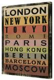 Cidades Impressão em tela esticada