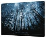 Imagination - Stars Impressão em tela esticada