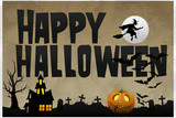 Happy Halloween Holiday Plastic Sign Plastikskilt