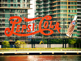 Pepsi Cola Bottling Sign, Long Island City, New York, United States, Vintage Valokuvavedos tekijänä Philippe Hugonnard